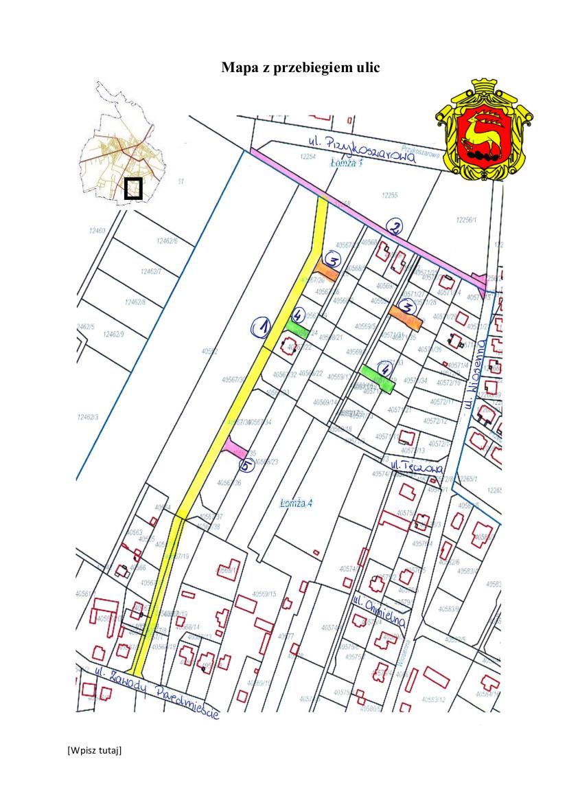 Sonda w sprawie nadania nazwy ulicom przeprowadzana od 25.11 do 13.12.2019